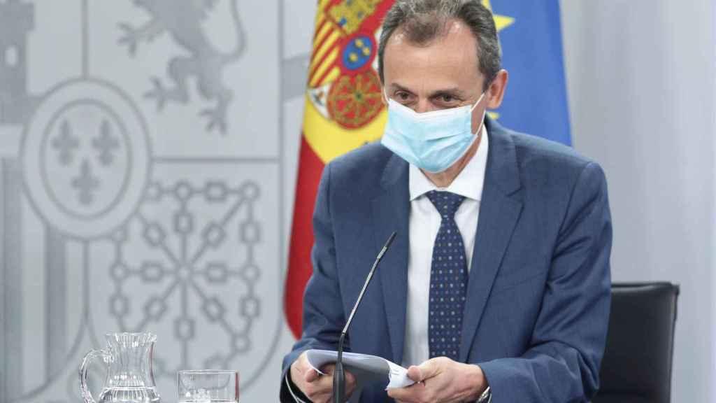 Pedro Duque, tras el Consejo de Ministros.