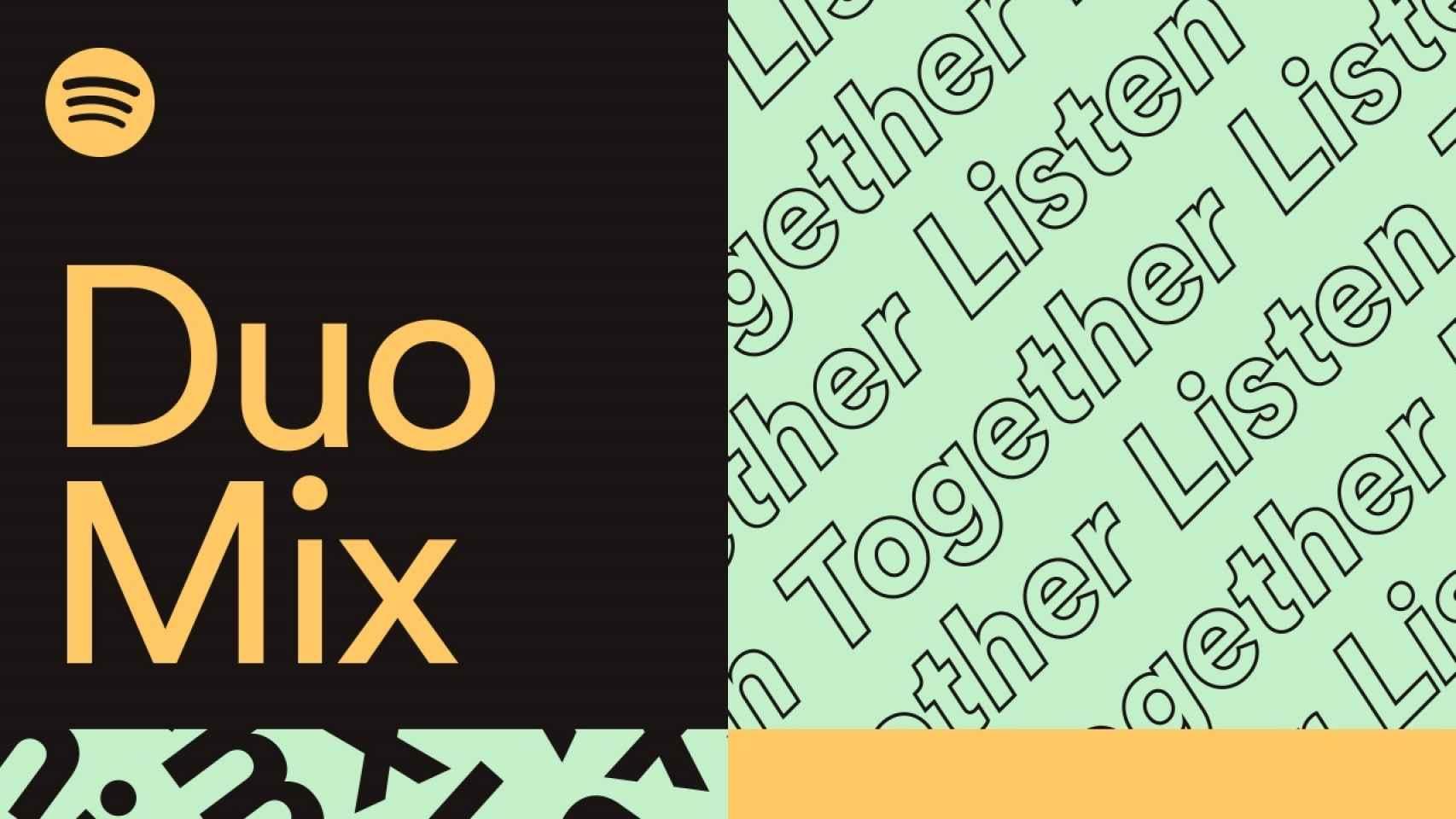 Logo de Spotify Duo Mix.