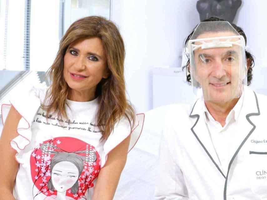 La periodista Gema López y el doctor Miguel de la Peña.