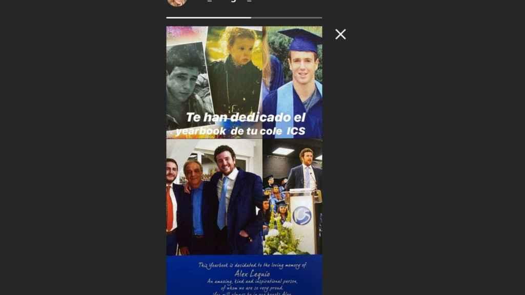 Historia de Instagram de Ana Obregón.
