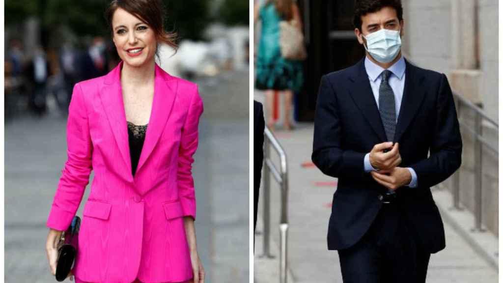 Andrea Levy y Pepe Ruiz-Gallardón llegando por separado al Teatro Real.