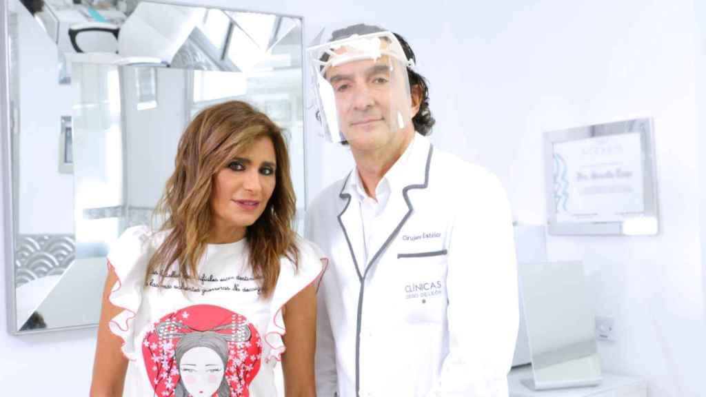 Gema López y el doctor Miguel de la Peña de las clínicas Diego de León.