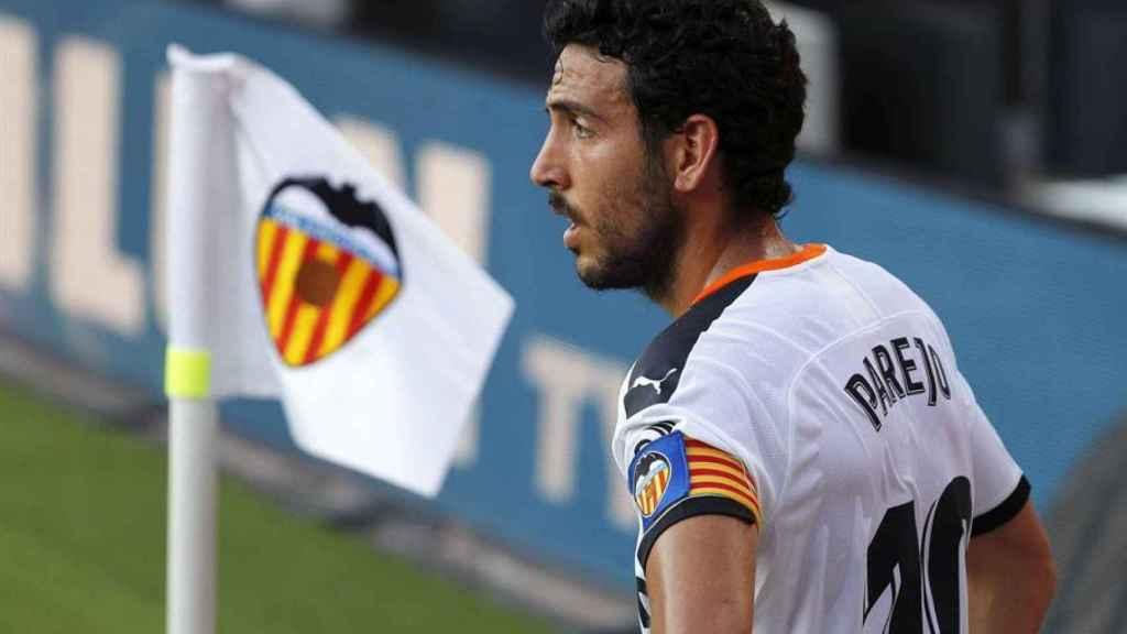 Dani Parejo, durante un partido del Valencia en Mestalla