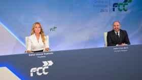 La presidenta de FCC, Esther Alcocer Koplowitz, y su consejero delegado, Pablo Colio.