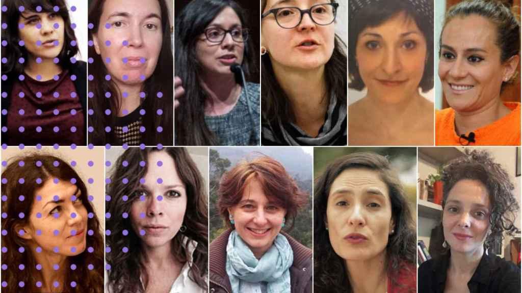 Las once escritoras de 'Fuera de sí mismas: Motivos para dislocarse'.