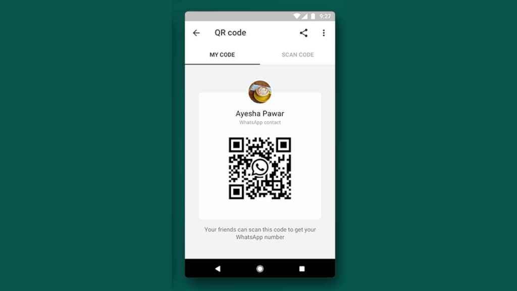 Código QR en WhatsApp
