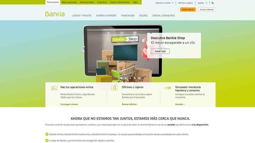 Web de Bankia.