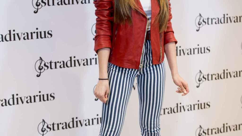 Aitana durante la presentación de su colección en colaboración con Stradivarius.