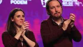 Irene Montero y Pablo Iglesias en un acto público en noviembre del año pasado.