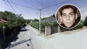 Youssef y la calle donde fue hallado su cuerpo.