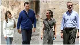 Felipe VI y Letizia en montaje de JALEOS durante su luna de miel en 2004 y su última visita a Cuenca este jueves.