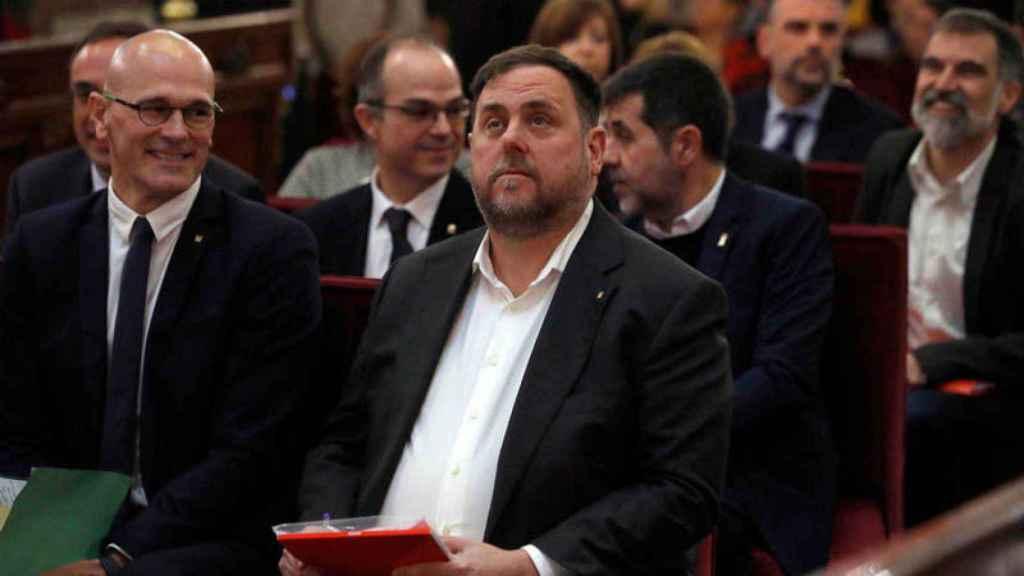 Oriol Junqueras y el resto de presos durante el juicio en el Tribunal Supremo. Efe