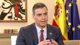 El presidente del Gobierno, Pedro Sánchez, en una entrevista en La Sexta.