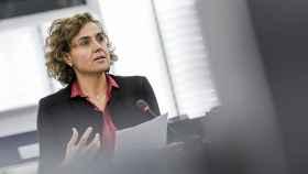 La líder del PP en la Eurocámara, Dolors Montserrat, durante una intervención en el pleno