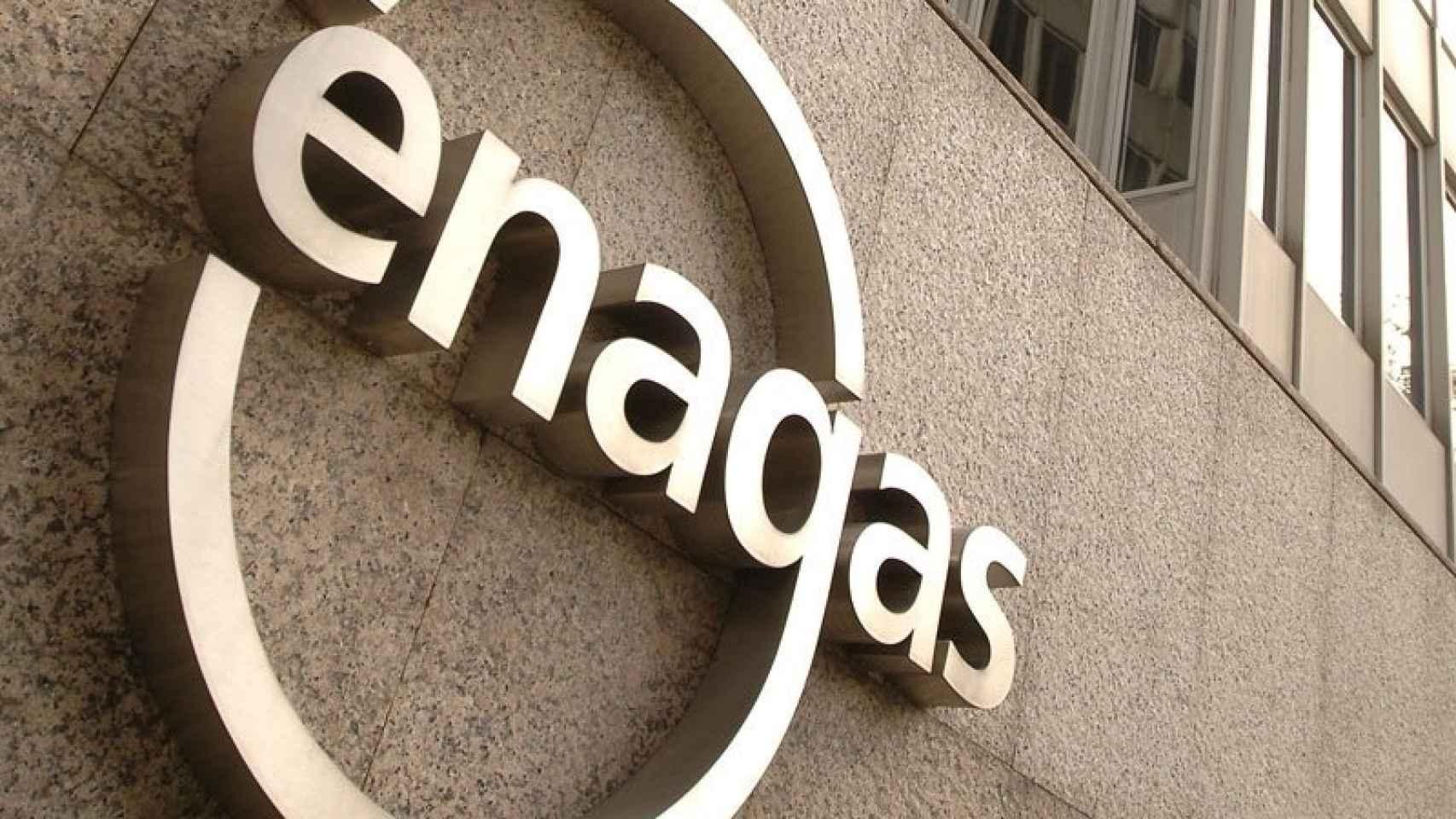 Logotipo de Enagás a la entrada de unas de sus instalaciones.