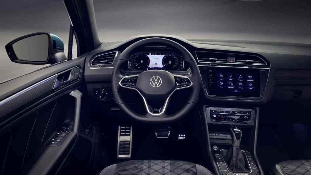 Interior del Volkswagen Tiguan 2021.