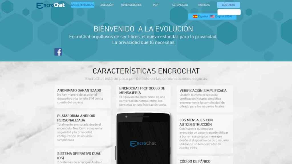 Página web de Encrochat para España