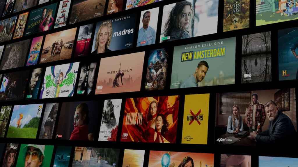 Pantalla de contenidos de Vodafone TV.