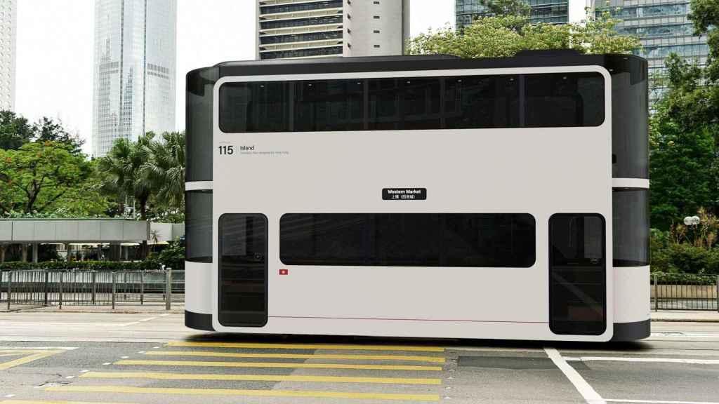 Concepto de tranvía autónomo.