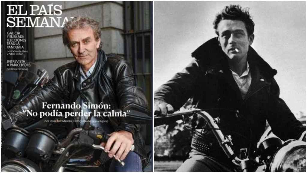 La portada de 'El País Semanal' y el actor James Dean.