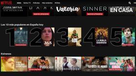 Top ten de Netflix.