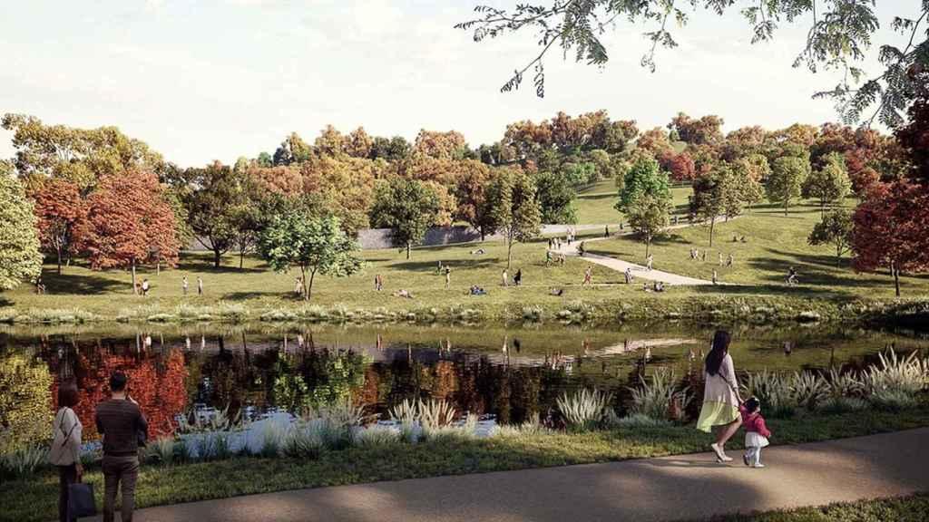 Las zonas verdes del 'Nou Parc'