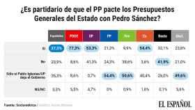 Más de la mitad de los votantes del PP quiere pactos con el PSOE sólo si Iglesias sale del Gobierno