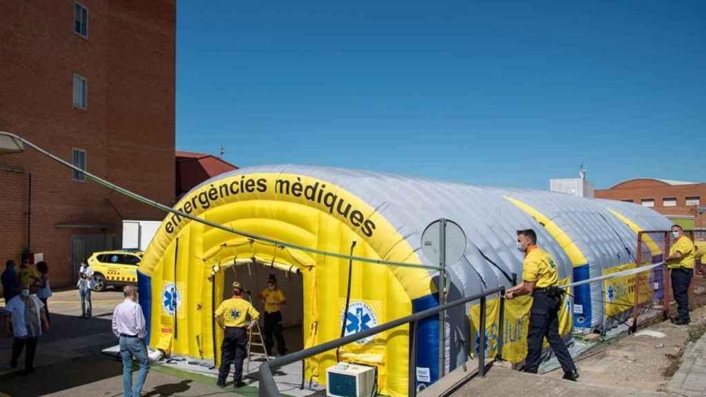 Hospital de campaña en Lérida.
