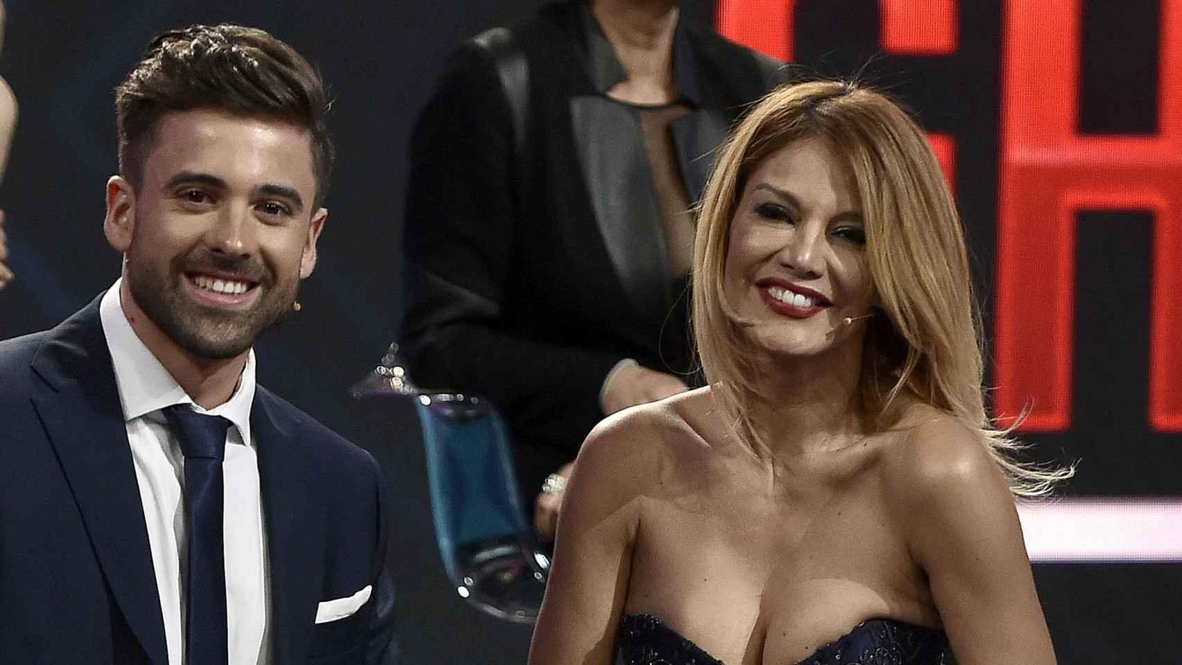Ivonne Reyes junto a Sergio Ayala, su expareja, en el plató de 'Gran Hermano VIP'.