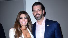 El hijo mayor de Donald Trump junto a su pareja Kimberly Guilfoyle en imagen de archivo.