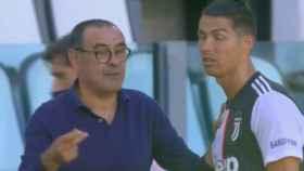 El encontronazo entre Sarri y Cristiano Ronaldo