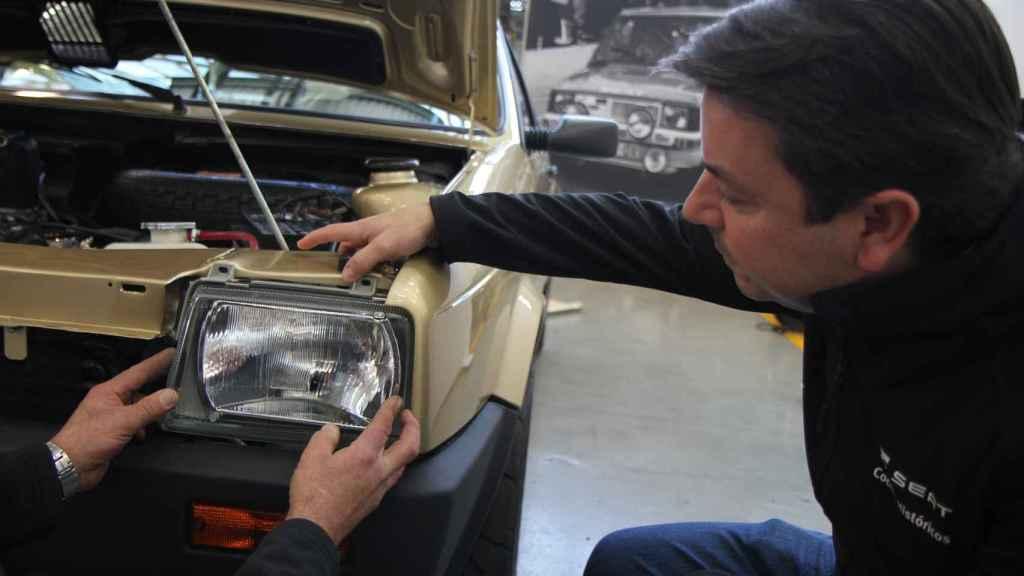 Restauración del Seat Ibiza de Felipe VI.