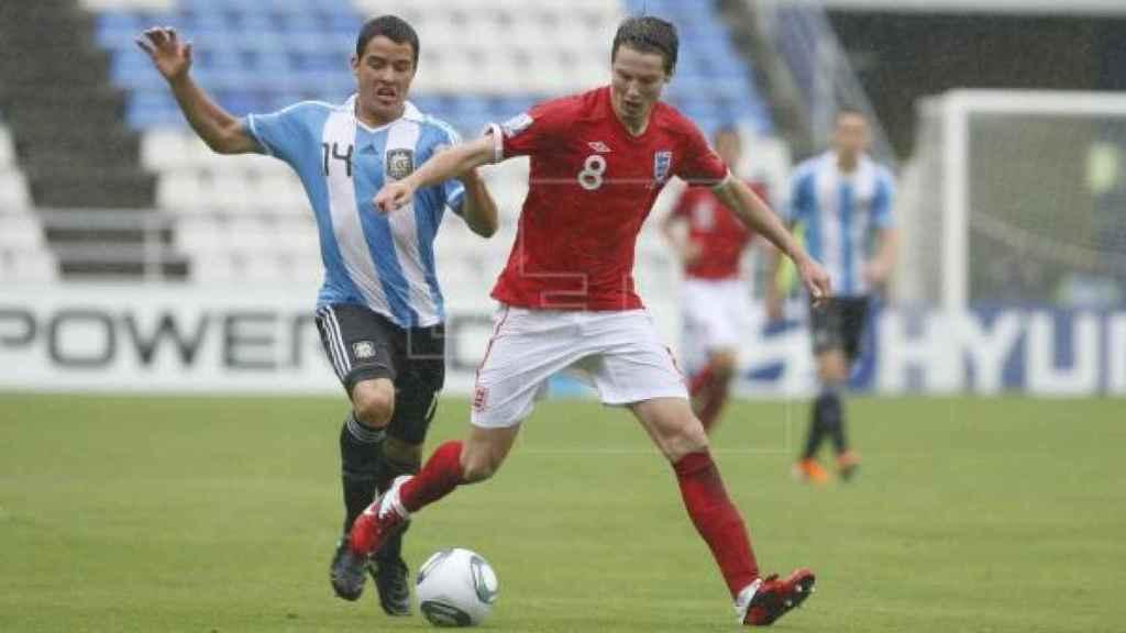 El futbolista Alexis Zárate en un partido con Argentina Sub-17