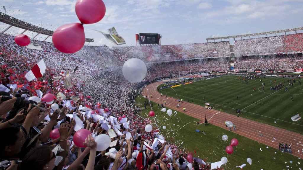 Imagen de un partido de fútbol en Argentina