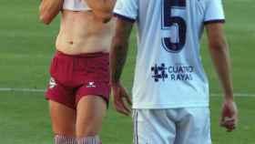 Lucas Pérez se lamenta durante el Valladolid - Alavés