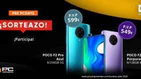 Llévate uno estos dos móviles Xiaomi para celebrar los PcDays de PcComponentes