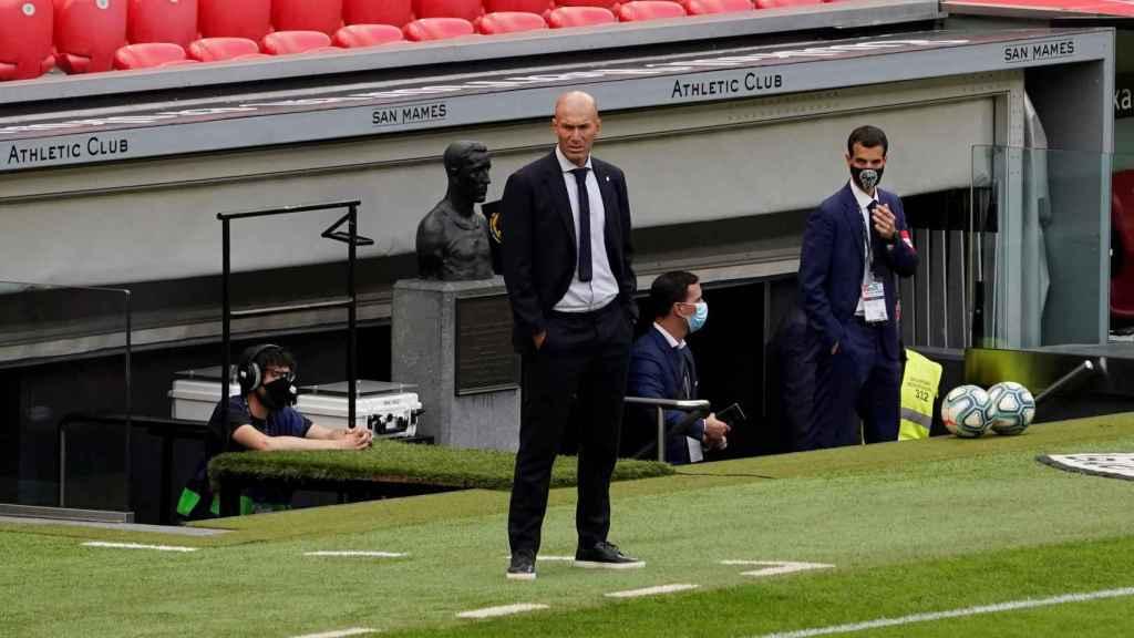 Zinedine Zidane, durante el Athletic - Real Madrid