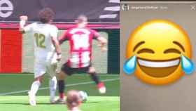 La reacción de Arturo Vidal al penalti contra el Real Madrid