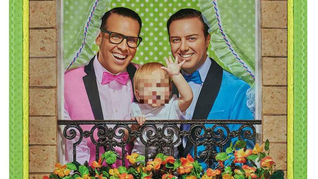Torito, su marido Raúl y su hijo Nathan.