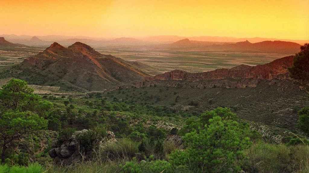 Sierra de Santa Ana, Paisaje de la Buitrera.