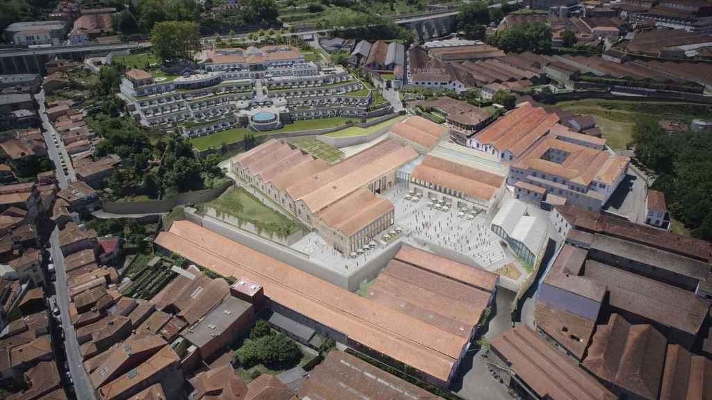 Infografía aérea de WoW Porto.