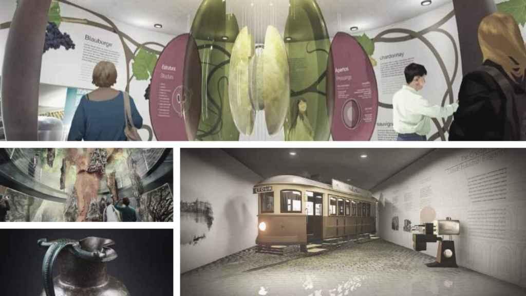 Infografías del nuevo distrito cultural entorno al vino de Oporto.