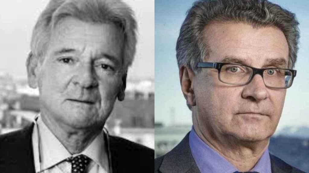 Los suizos Dante Canonica y Arturo Fasana.