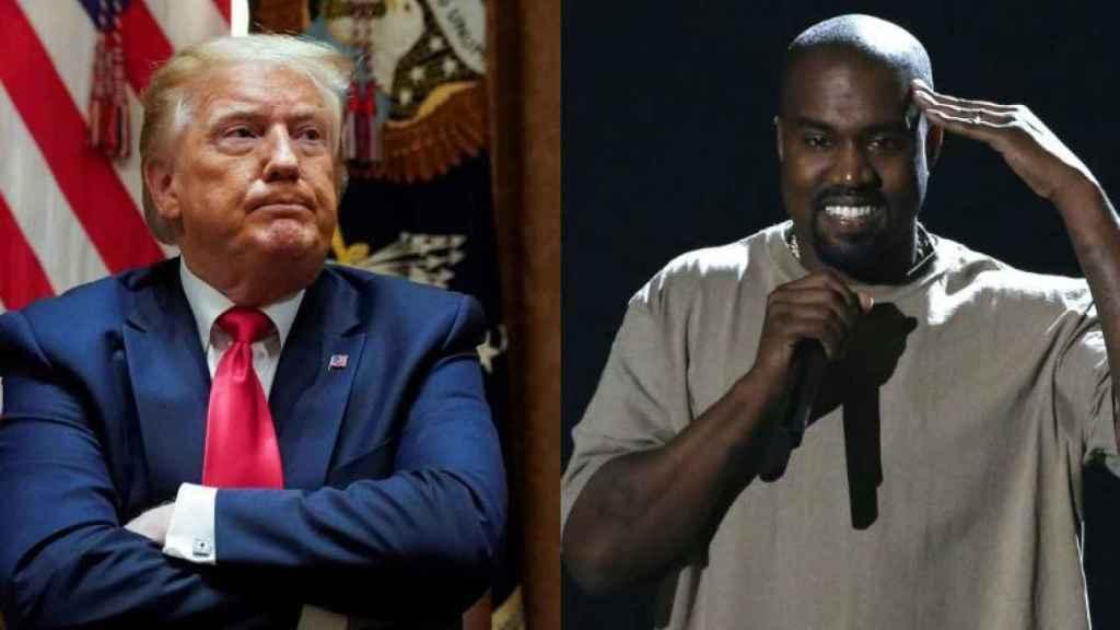 El presidente de los EEUU Donald Trumo, y el rapero Kanye West.