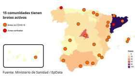 El mapa de los rebrotes de coronavirus en España: 15 comunidades afectadas y dos comarcas confinadas