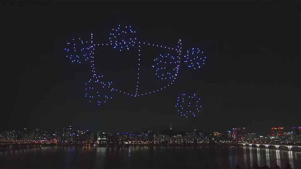 Espectáculo de luces con drones.