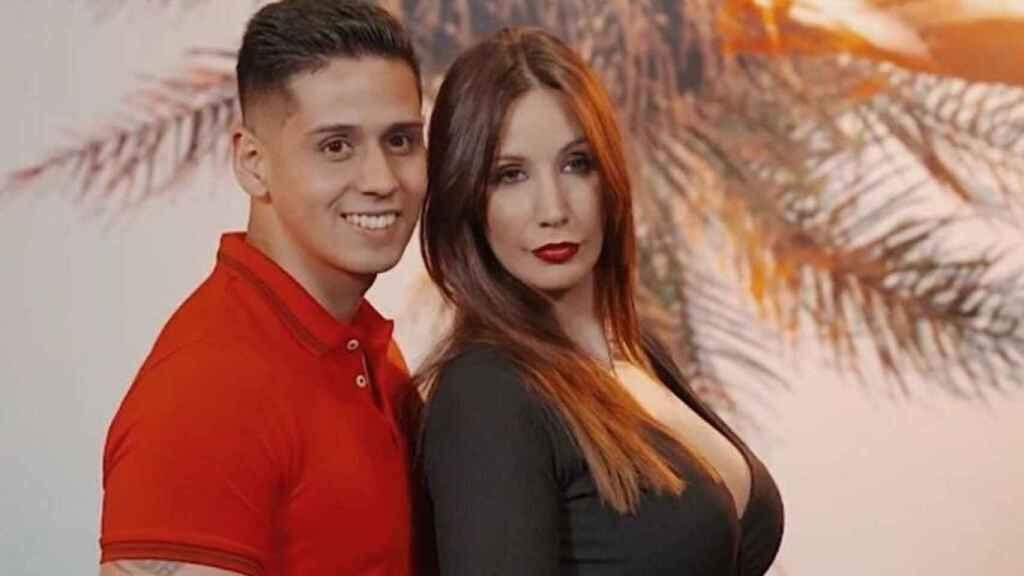 La pareja durante su participación en 'La isla de las tentaciones'.