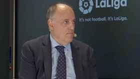 Javier Tebas, durante el World Football Summit