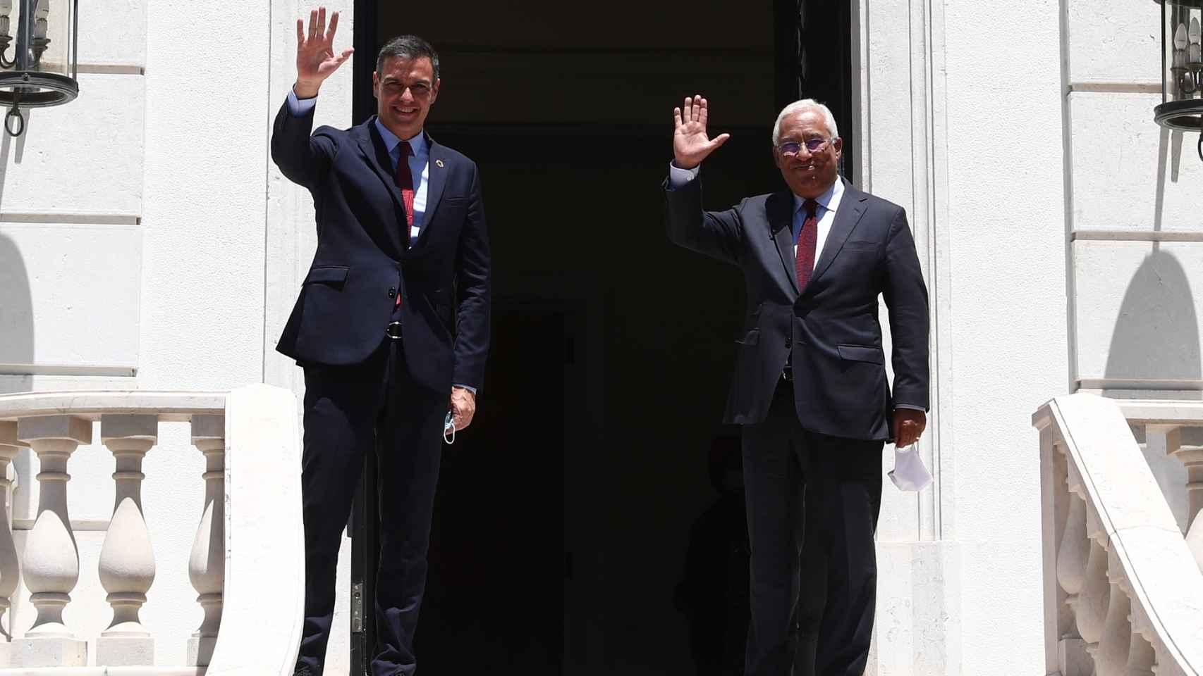Sánchez tras la reunión con el presidente primer ministro de Portugal, Antonio Costa.