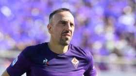 Franck Ribéry, en un partido de la FIorentina